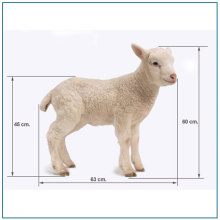 Lovely  Life Size Fiberglass Sheep Statue